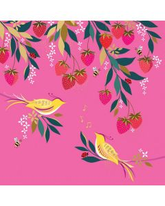 The Art File Sara Miller London Card Birds and Strawberries