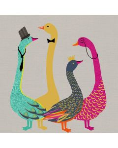 The Art File Sara Miller London Card Bow Tie Geese