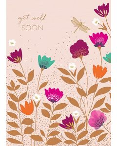 Sara Miller London - Get Well Soon Flowers & Dragonfly - SAM33