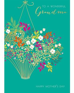 The Art File Sara Miller London Card Mother's Day Card To A Wonderful Grandma