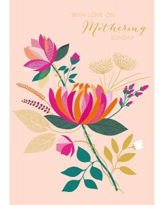 The Art File Sara Miller London Card Mother's Day Card With Love on Mothering Sunday