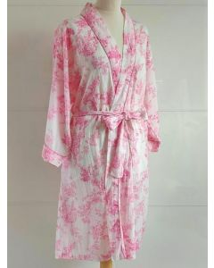 An Indian Summer - Toile Print - Pink