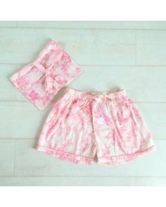 An Indian Summer Toile Print Shorts - Pink
