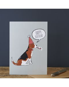 Sweet William Birthday Card Beagle