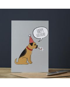 Sweet William Birthday Card Border Terrier