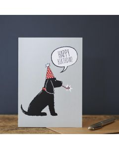 Sweet William Birthday Card Cocker Spaniel Black