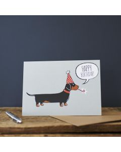 Sweet William Birthday Card Dachshund