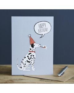 Sweet William Birthday Card Dalmatian