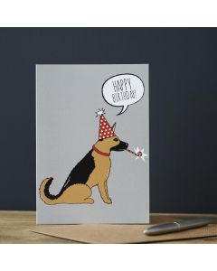 Sweet William Birthday Card German Shepherd