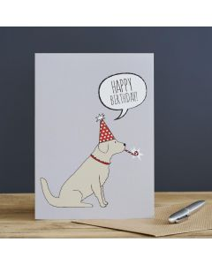 Sweet William Birthday Card Golden Retriever