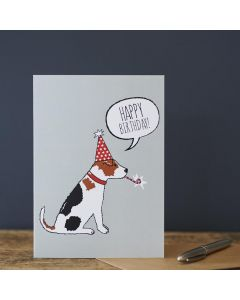 Sweet William Birthday Card Jack Russell
