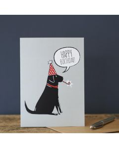 Sweet William Birthday Card Labrador Black