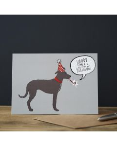 Sweet William Birthday Card Lurcher