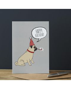Sweet William Birthday Card Pug
