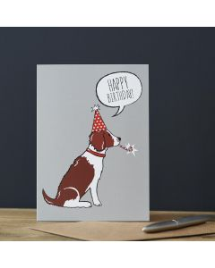 Sweet William Birthday Card Springer Spaniel Liver