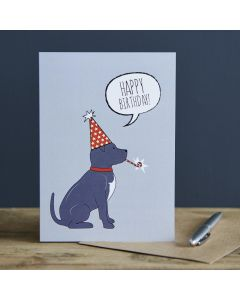 Sweet William Birthday Card Staffie