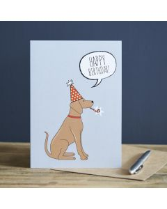 Sweet William Birthday Card Vizsla