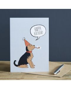 Sweet William Birthday Card Yorkshire Terrier