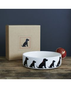 Sweet William Dog Bowl Cocker Spaniel Black