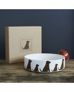 Sweet William Dog Bowl  Labrador Chocolate