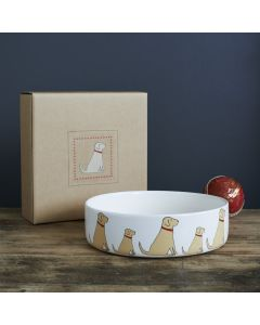 Sweet William Dog Bowl  Labrador Yellow