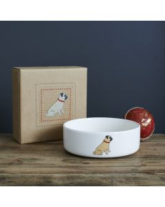 Sweet William Dog Bowl Pug