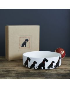 Sweet William Dog Bowl Schnauzer Black large