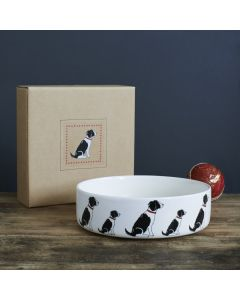 Sweet William Dog Bowl Springer Spaniel black
