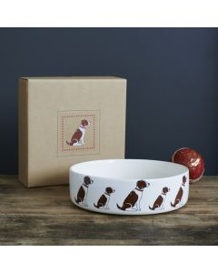 Sweet William Dog Bowl Springer Spaniel liver
