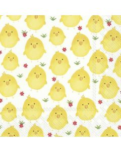 IHR Paper Napkins, Pack of 20 3-ply Lunch Size, Sweet Chicks