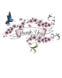 Portfolio, T'Too New Home Card Thank You Floral Banner