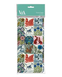 Museums and Galleries V and A Tissue Paper De Morgan Tiles