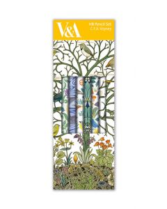 Museums and Galleries Pencil Box of 6 HB Pencils Voysey