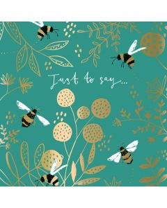 The Curious Inksmith Notecards Happy Bees & Beautiful Brew