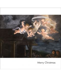Portfolio, National Gallery Christmas Card  The Adoration of The Shepherds Detail  Cherubs (Guido Reni)