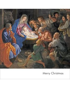 Portfolio, National Gallery Christmas Card  The Adoration of The Shepherds Detail  Nativity (Guido Reni)