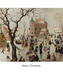 Portfolio, National Gallery Christmas Card  A Winter Scene with Skaters, Hendrick Avercamp