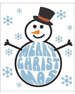 Candy Floss Christmas Card Frosty