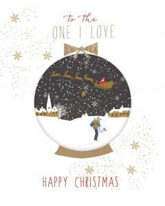 Sara Miller London Christmas Card To The One I Love Happy Christmas