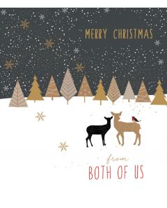 Sara Miller London Christmas Card From Both of Us Merry Christmas
