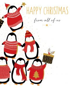 Sara Miller London Christmas Card From All of Us Happy Christmas