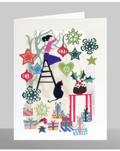 Hanging Decorations  - XP57 - Laser Cut Christmas Card