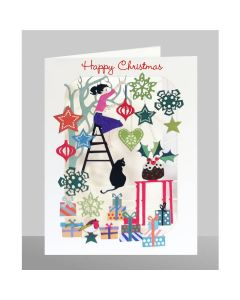 Hanging Decorations - Happy Christmas  - XP59 - Laser Cut Christmas Card