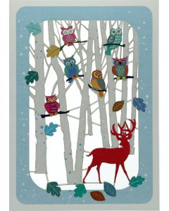Owls in Trees - XP89 - Laser Cut Christmas Card